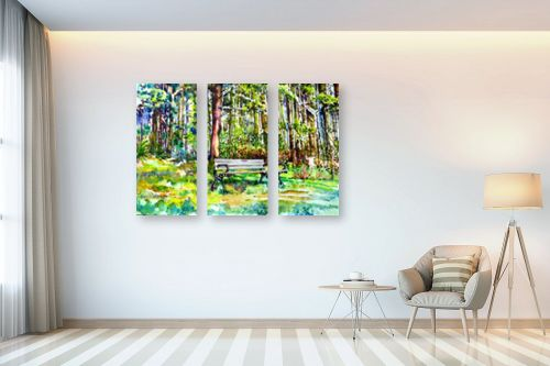 תמונה לבית - חיה וייט - ספסל ביער - מק''ט: 261355
