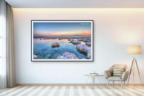 תמונה לבית - איזבלה אלקבץ - זריחה בים המלח - מק''ט: 266732