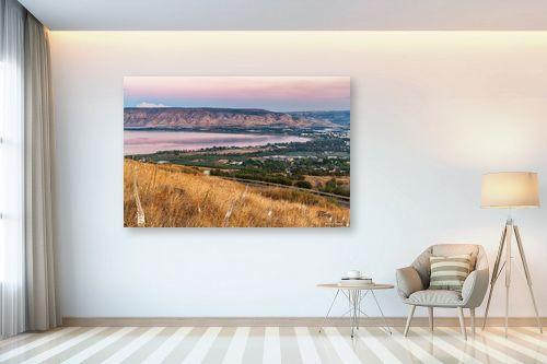 תמונה לבית - מיכאל שמידט - חצבים עם נוף לכנרת - מק''ט: 273547