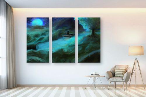 תמונה לבית - אורי רדלר - דיג ירח כחול - מק''ט: 279030