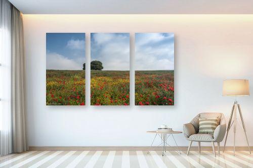 תמונה לבית - דורית ברקוביץ - לבד בין הפרחים - מק''ט: 282525