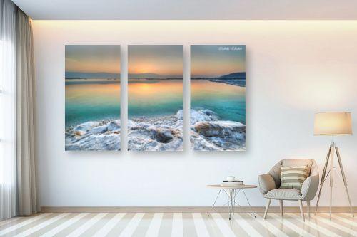 תמונה לבית - איזבלה אלקבץ - זריחה בים המלח - מק''ט: 282620