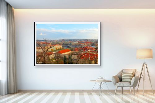 תמונה לבית - מתן הירש - גגות אדומים בפראג - מק''ט: 283093