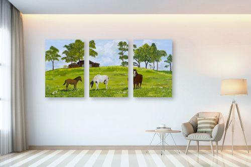תמונה לבית - נריה ספיר - סוסים באחו - מק''ט: 284498