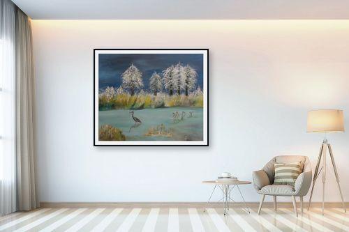 תמונה לבית - רינה יניב - חורף באגם - מק''ט: 285642