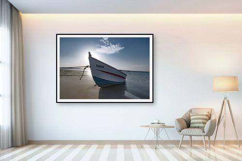תמונה לבית - שי וייס - סירה מול שמש - מק''ט: 295240