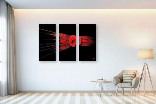 תמונה לבית - ויקטוריה רייגירה - אדום ושחור - מק''ט: 300302