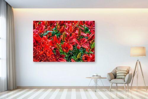 תמונה לבית - טניה קלימנקו - פרחים אדומים בהרכב - מק''ט: 301832