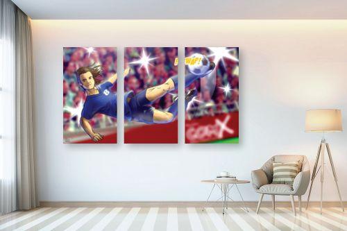 תמונה לבית - חנן אביסף - שחקן כדורגל במגרש הכדורגל - מק''ט: 302667
