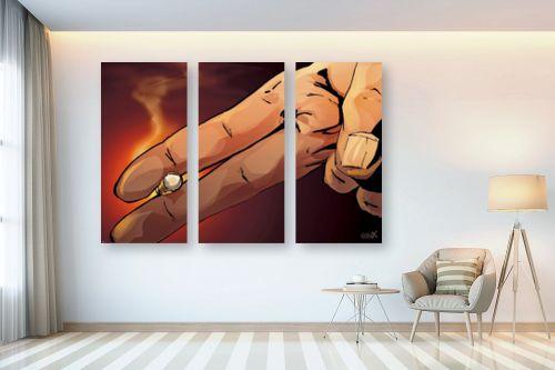 תמונה לבית - חנן אביסף - אצבעות מחזיקות סיגריה - מק''ט: 304275