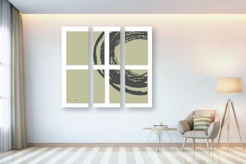 תמונה לבית - נעמי עיצובים - אפור על קרם - מק''ט: 305245