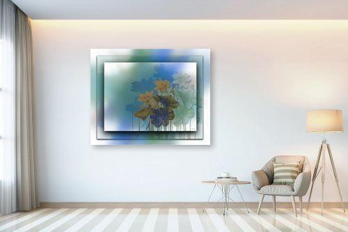 תמונה לבית - רעיה גרינברג - פרחים במסגרת - מק''ט: 312160