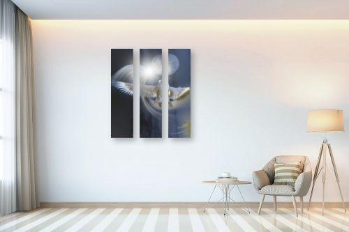 תמונה לבית - ענת אומנסקי - ציפור וירח  - מק''ט: 313769