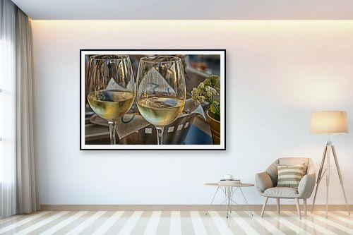 תמונה לבית - טניה קלימנקו - שתי כוסות יין לבן - מק''ט: 313993