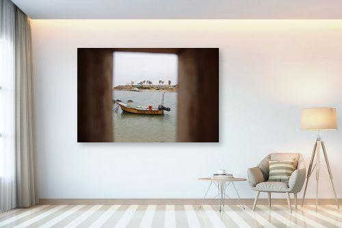 תמונה לבית - אבי סימן-טוב - סירה במסגרת - מק''ט: 315558