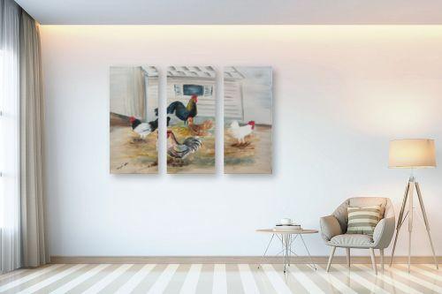 תמונה לבית - דיאנה אורן - תרנגולות - מק''ט: 315856