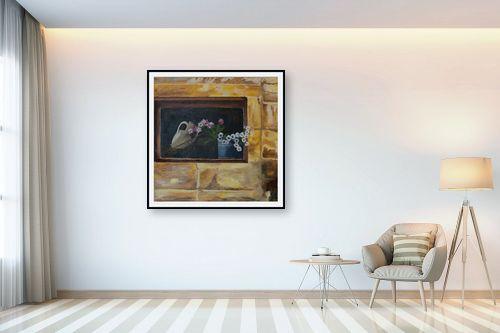 תמונה לבית - אסתר טל - פרחים בחלון - מק''ט: 316230