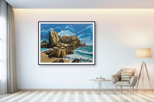 תמונה לבית - דיאנה אורן - סלעים  בים - מק''ט: 316286