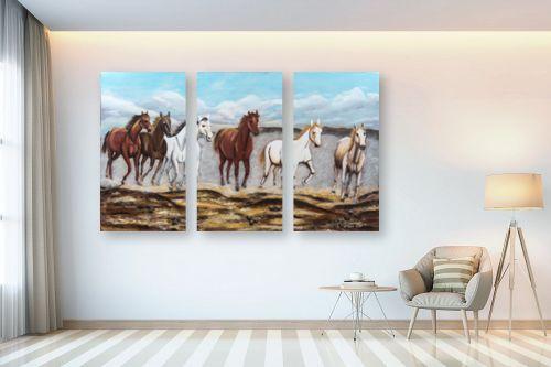 תמונה לבית - מזל בוכריס - דהרת סוסים - מק''ט: 316335