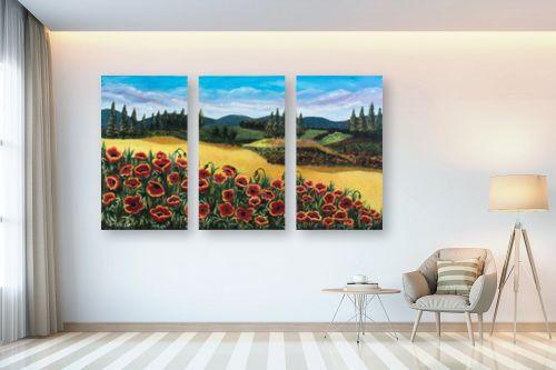 תמונה לבית - מזל בוכריס - כלניות אדומות - מק''ט: 316443