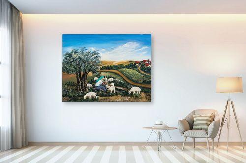 תמונה לבית - מזל בוכריס - כבשים בגליל - מק''ט: 316448