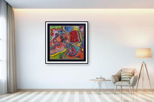 תמונה לבית - חיים מחט - שבילים צבעוניים - מק''ט: 317386