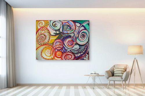 תמונה לבית - אילה ארויו - אבסטרקט מערבולות צבע צבע - מק''ט: 318519