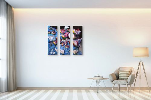 תמונה לבית - אילה ארויו - אבסקרקט פרחים - מק''ט: 320252