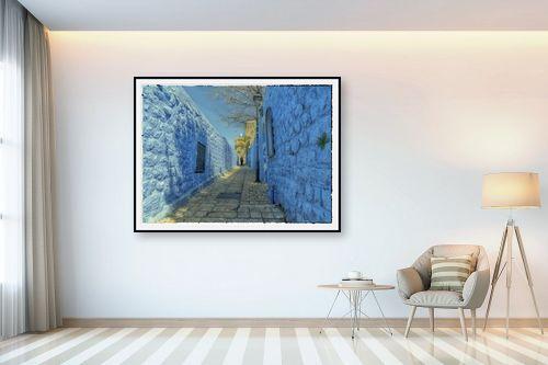 תמונה לבית - אורי ברוך - סמטה בכחול - מק''ט: 328011