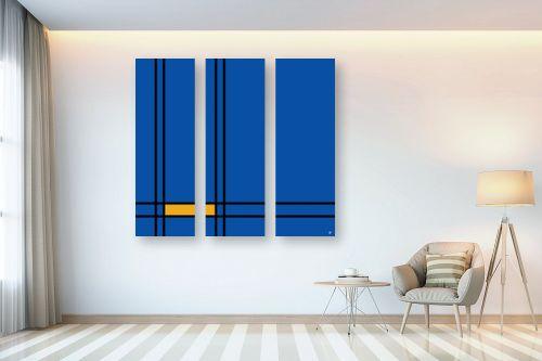 תמונה לבית - אתי דגוביץ' - כחול צהוב - מק''ט: 329329