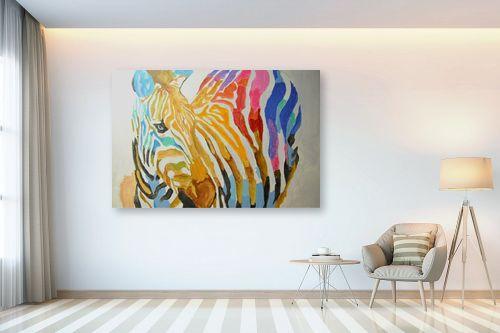 תמונה לבית - Artpicked - זברה צבעונית - מק''ט: 329698