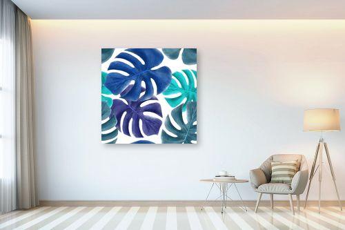 תמונה לבית - Artpicked - עלי דקל כחולים - מק''ט: 329746