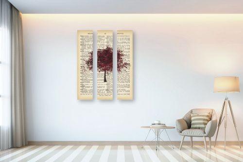 תמונה לבית - Artpicked - עץ בורדו רטרו על טקסט - מק''ט: 330042