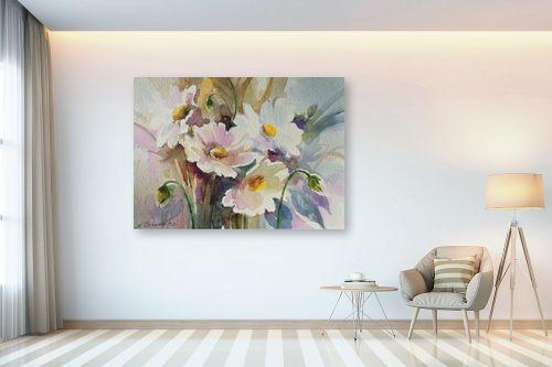 תמונה לבית - נטליה ברברניק -  פרחים לבנים - מק''ט: 330403