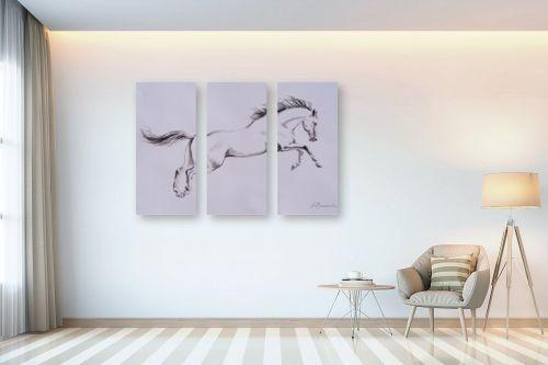 תמונה לבית - נטליה ברברניק - סוס לבן - מק''ט: 330491