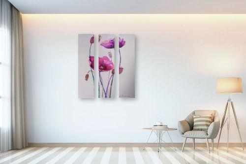 תמונה לבית - נטליה ברברניק - פרחים סגולים - מק''ט: 330588