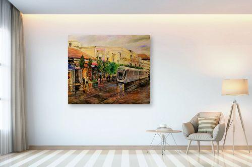 תמונה לבית - שמואל מושניק - הרכבת הקלה בירושלים (3)  - מק''ט: 330970