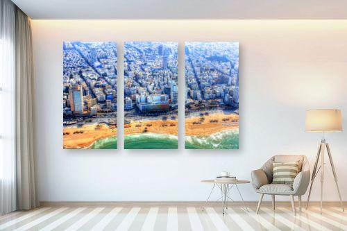 תמונה לבית - מתן הירש - חוף פרישמן מלמעלה - מק''ט: 331123
