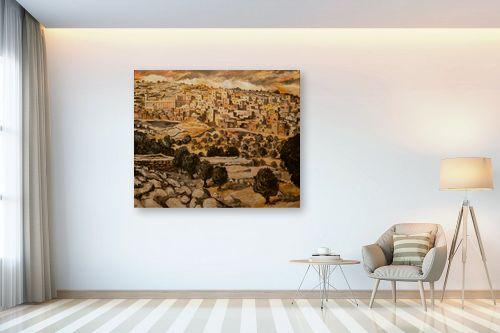 תמונה לבית - שמואל מושניק - חברון הישנה בחורף - מק''ט: 331683