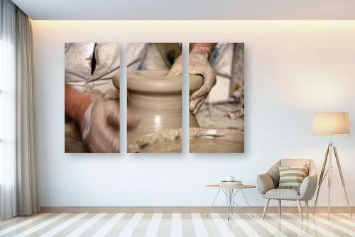 תמונה לבית - אורלי שטטינר - כד חימר עבודת יד - מק''ט: 332031