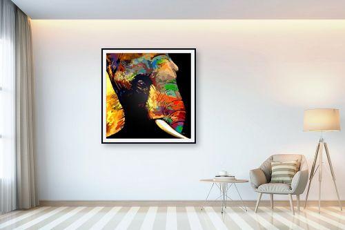 תמונה לבית - Artpicked - פיל בצבע - מק''ט: 332046
