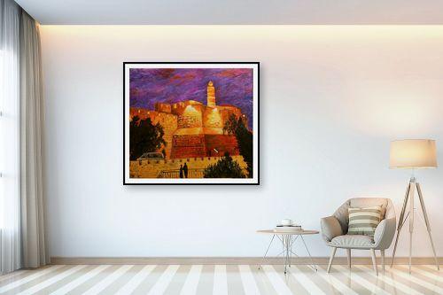 תמונה לבית - שמואל מושניק - לילה על מגדל דוד - מק''ט: 332228