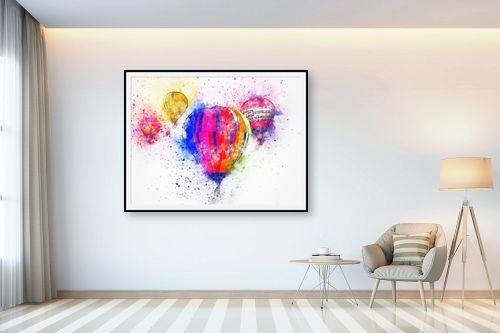 תמונה לבית - Artpicked - כדורים פורחים - מק''ט: 332545