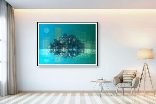 תמונה לבית - Artpicked - עיר בכחול - מק''ט: 332996