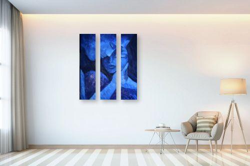 תמונה לבית - רוני רות פלמר - אהבה ענוגה בכחול - מק''ט: 333299