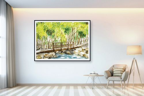תמונה לבית - נריה ספיר - גשר מעל הנחל - מק''ט: 334403