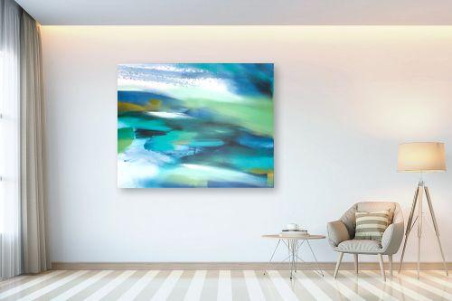 תמונה לבית - Artpicked - נוף בכחול - מק''ט: 334870