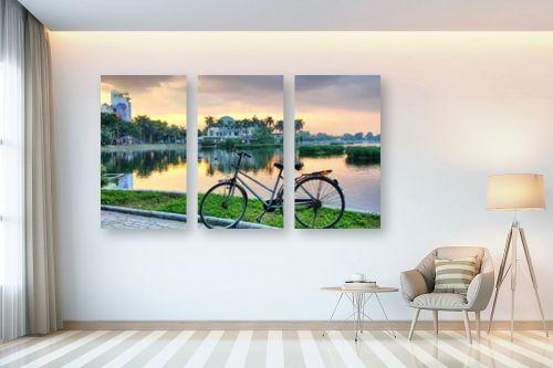 תמונה לבית - מתן הירש - אופניים בשקיעה - מק''ט: 335312