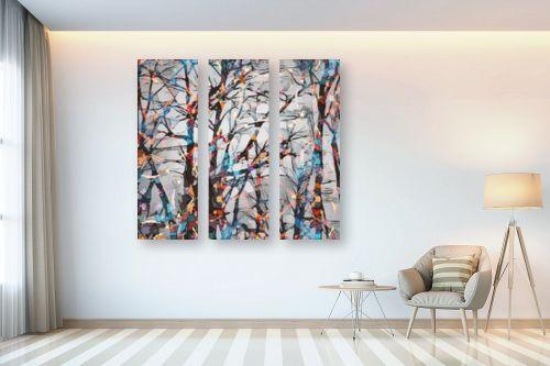 תמונה לבית - Artpicked - יער מפוקסל - מק''ט: 336267