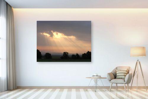 תמונה לבית - משה יפה - בקיעה מבין ענן - מק''ט: 4283
